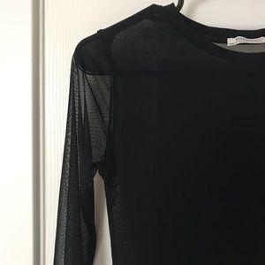 Zara Tops - Black mesh bodysuit